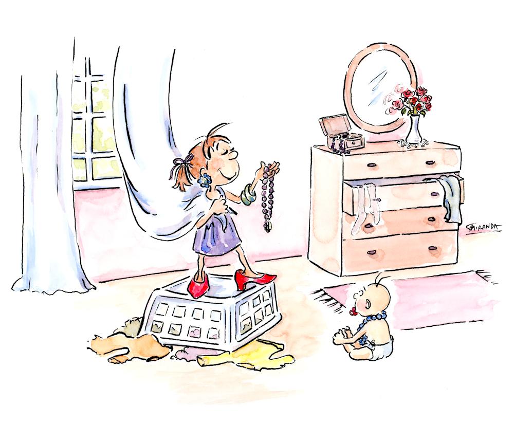 Whimsical children's book illustrations in watercolor by Joana Miranda
