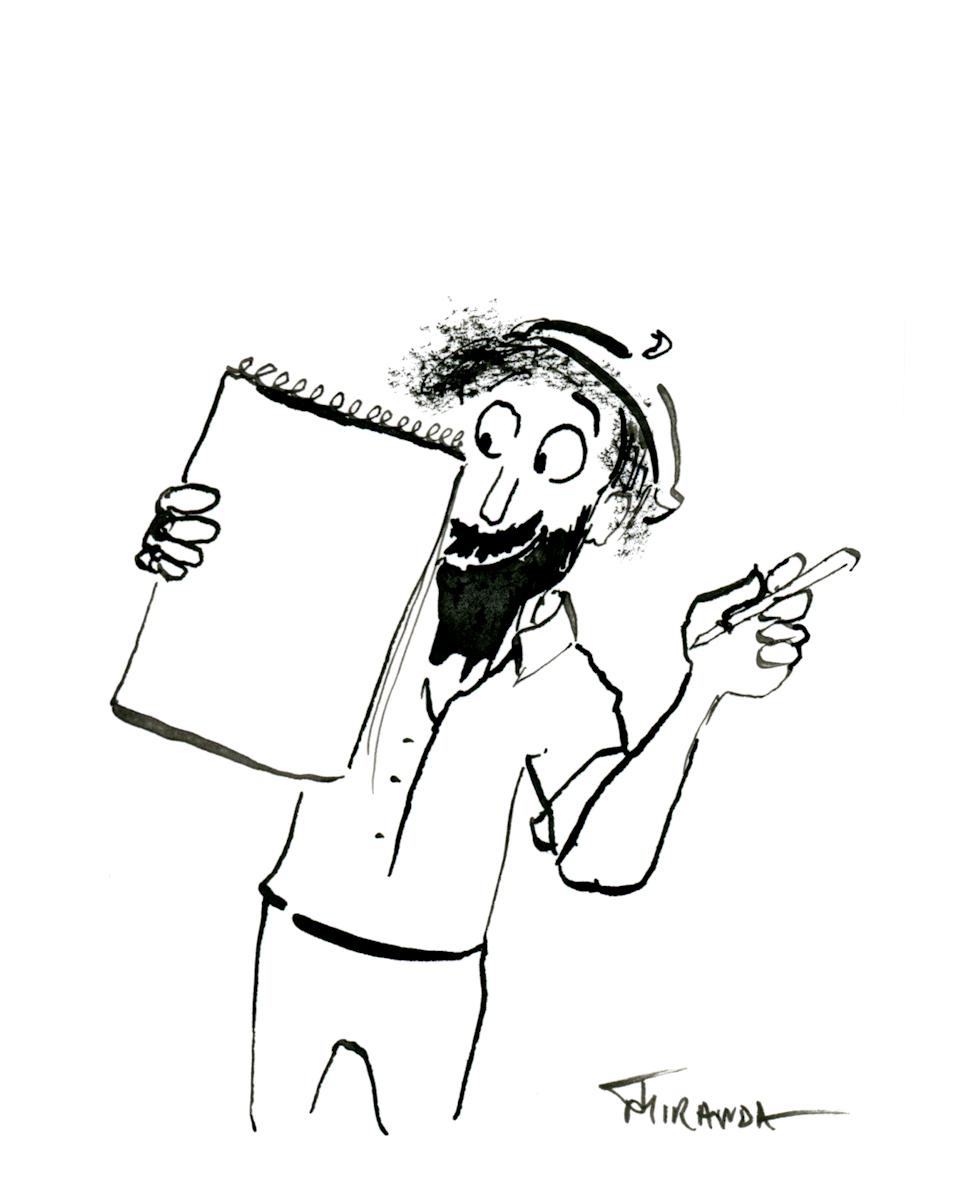 Freehand-illustration-The-Artist-by-Joana-Miranda