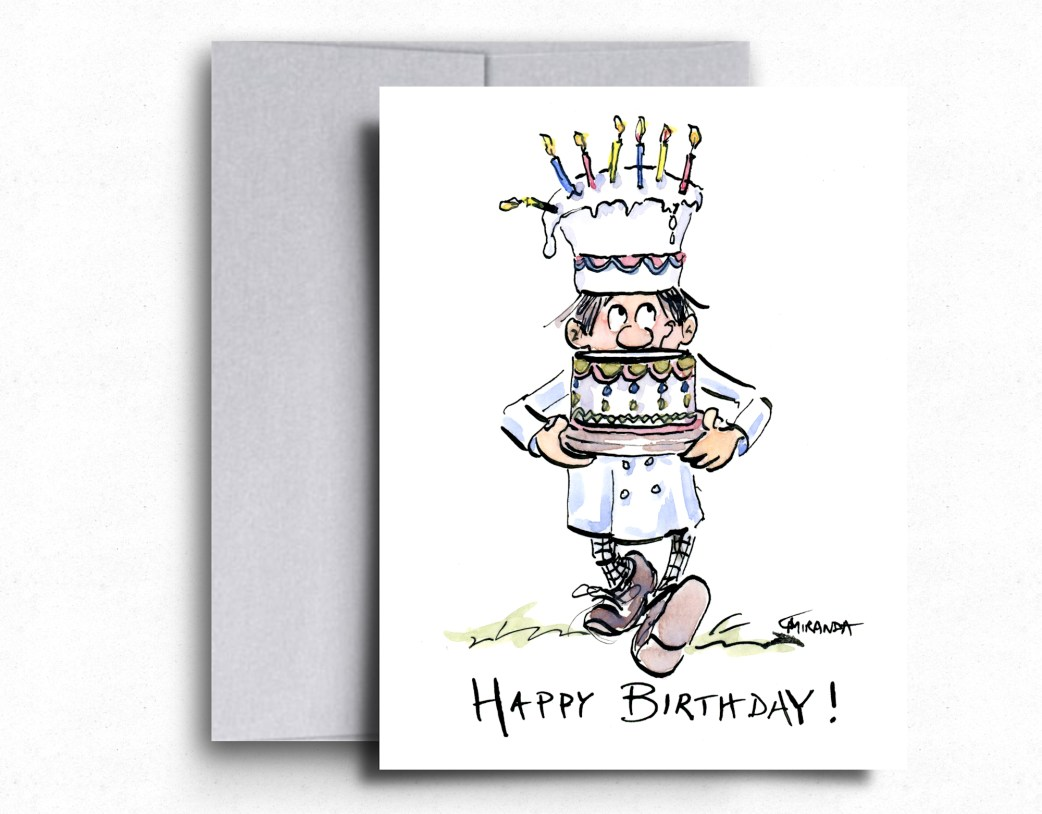 Little Chef Birthday Card by Joana Miranda - a great choice for the next longest birthday card exchange!
