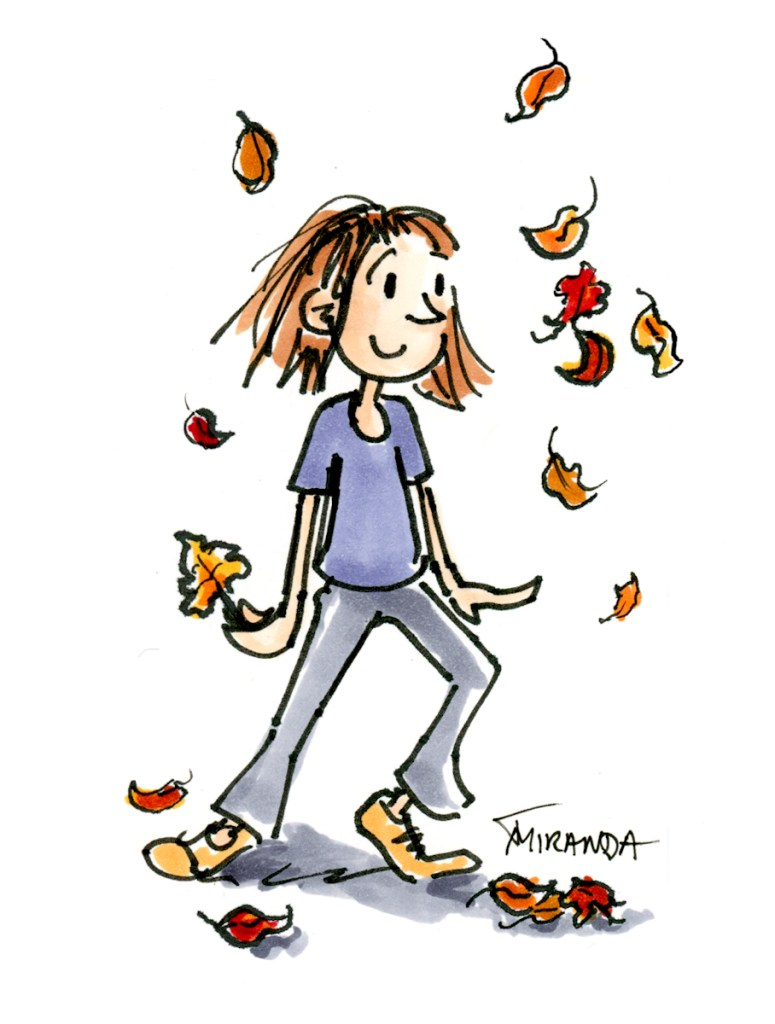 Autumn Illustration - Children's Book Art by Joana Miranda