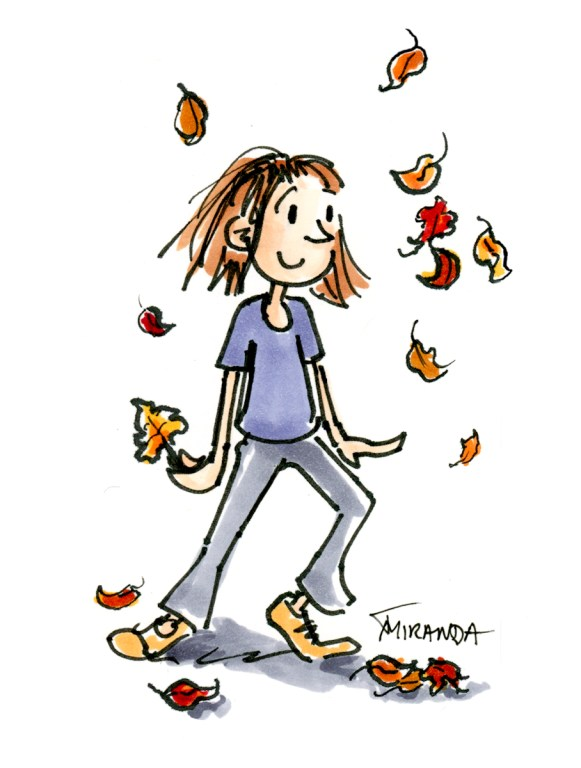 Autumn Illustration - Freehand Illustration - Children's Book Art by Joana Miranda