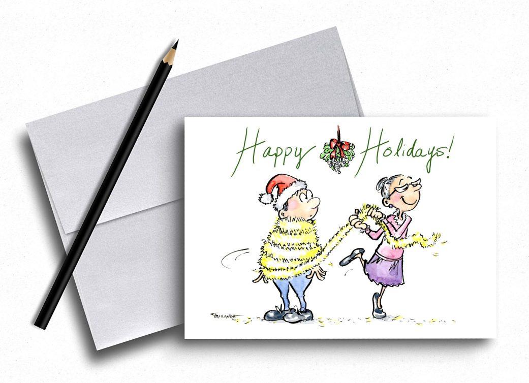 Funny holiday card - Happy Holidays! - by Joana Miranda Studio