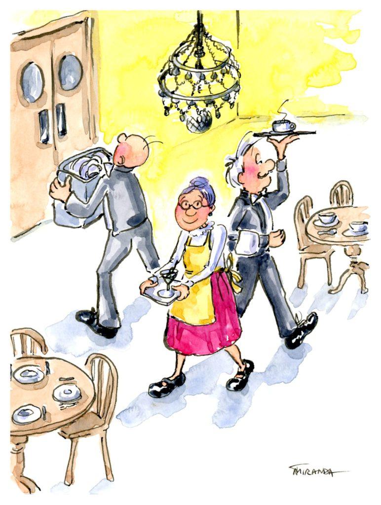 The Restaurant - Illustration by Joana Miranda