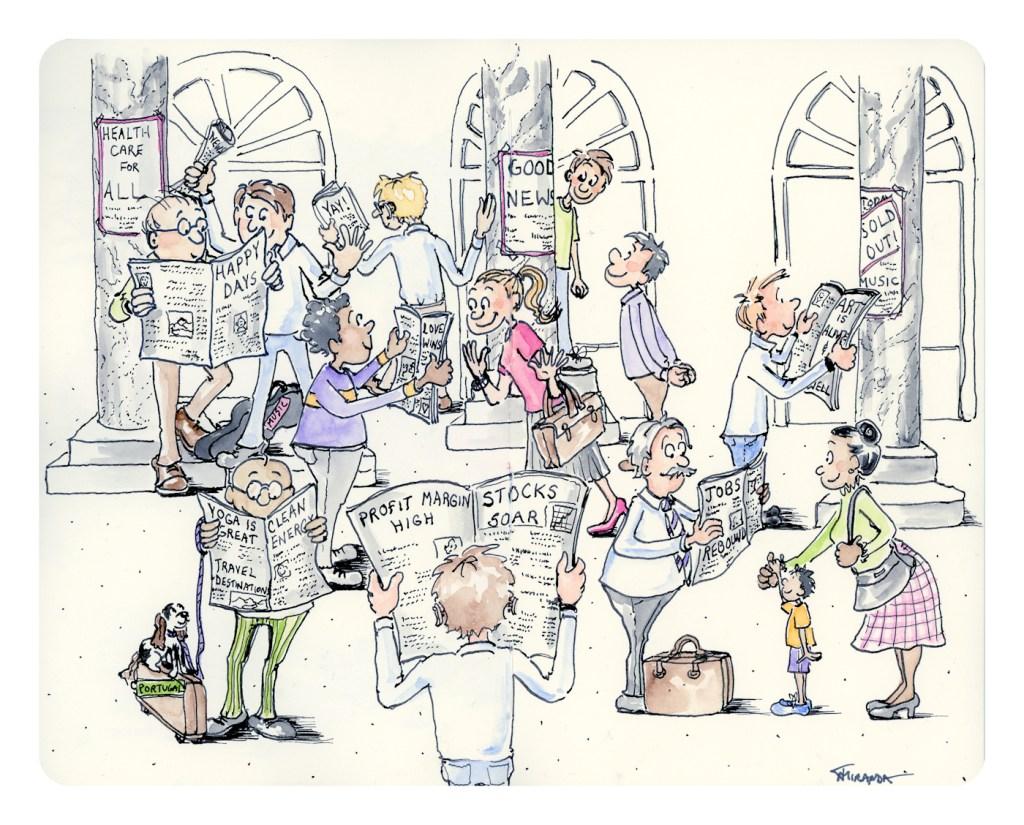 Funny doodle sketch - Good News - by Joana Miranda