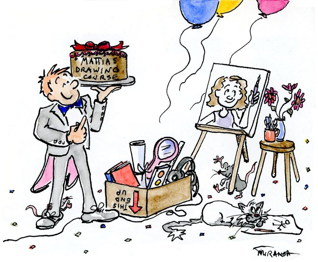 Mattias Adolfsson drawing course humorous illustration by Joana Miranda