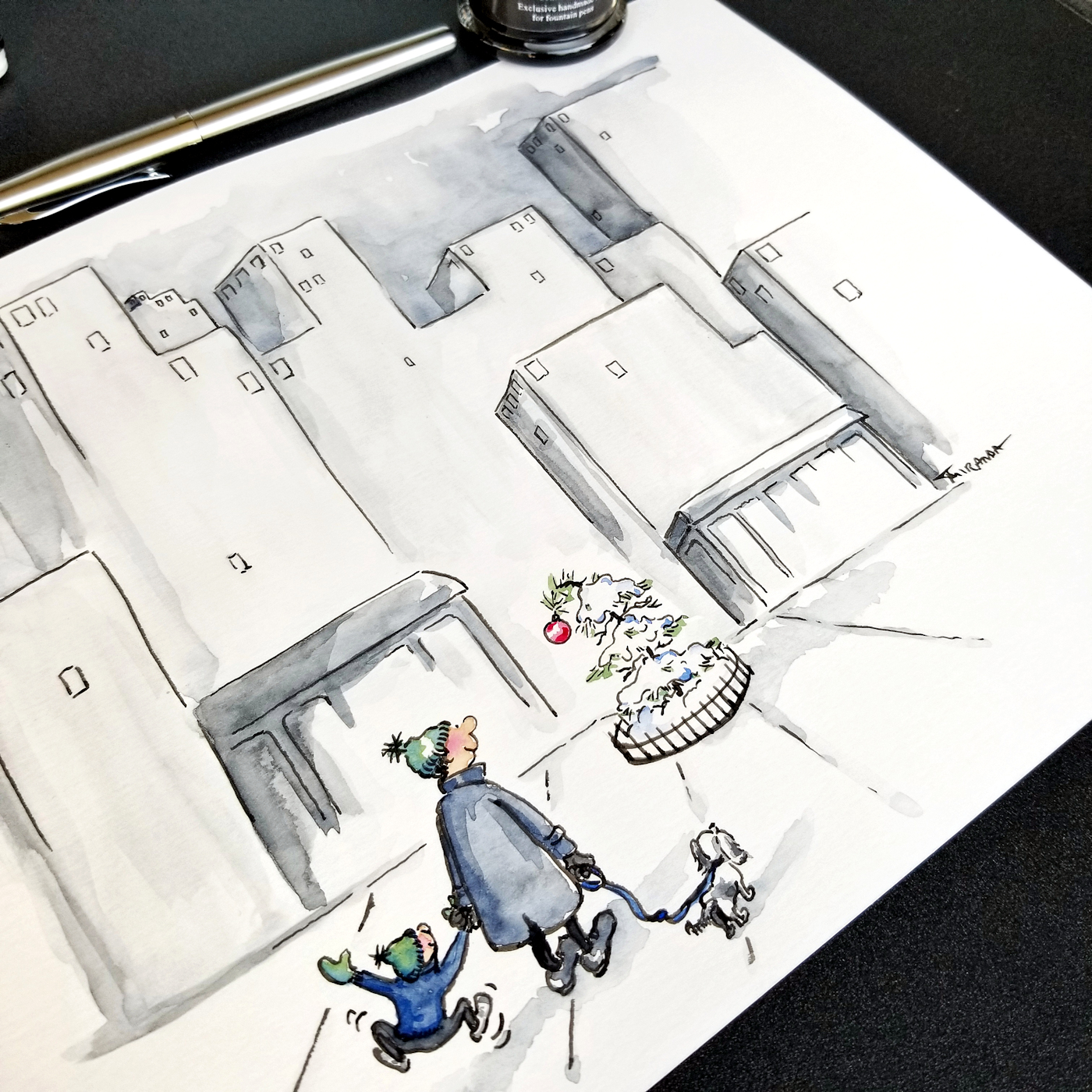 JMSC-182 Merry and Bright photo of original illustration by Joana Miranda - Detail2