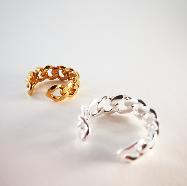 Silver and gold plated ring