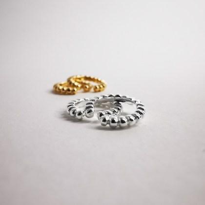 Silver earrings cuff