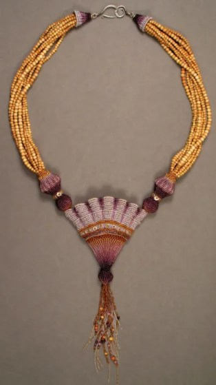 Purple Scallop Necklace