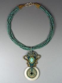 Blue & Jonquil Necklace