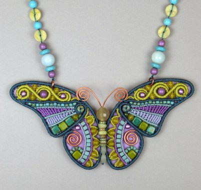 Blue, Lime, & Orchid Butterfly