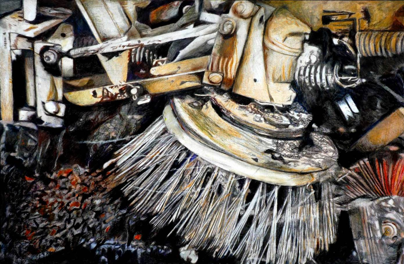 "Clean Sweep II 38"" x 55"" Mixed Media on Canvas"