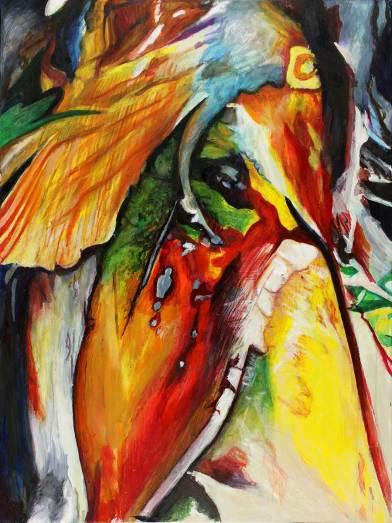 """Serenity 48"""" x 36"""" Mixed Media on Canvas"""