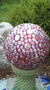 gazing ball in garden