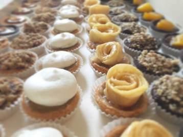 Tarte Nana Petits four, citron, pomme, caramel, cajou