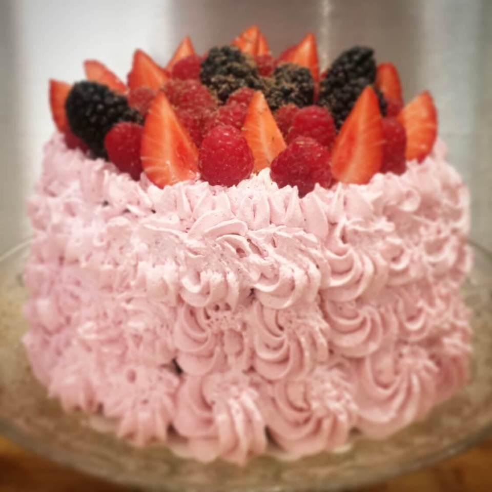 Layer cake sans gluten  chocolat framboises