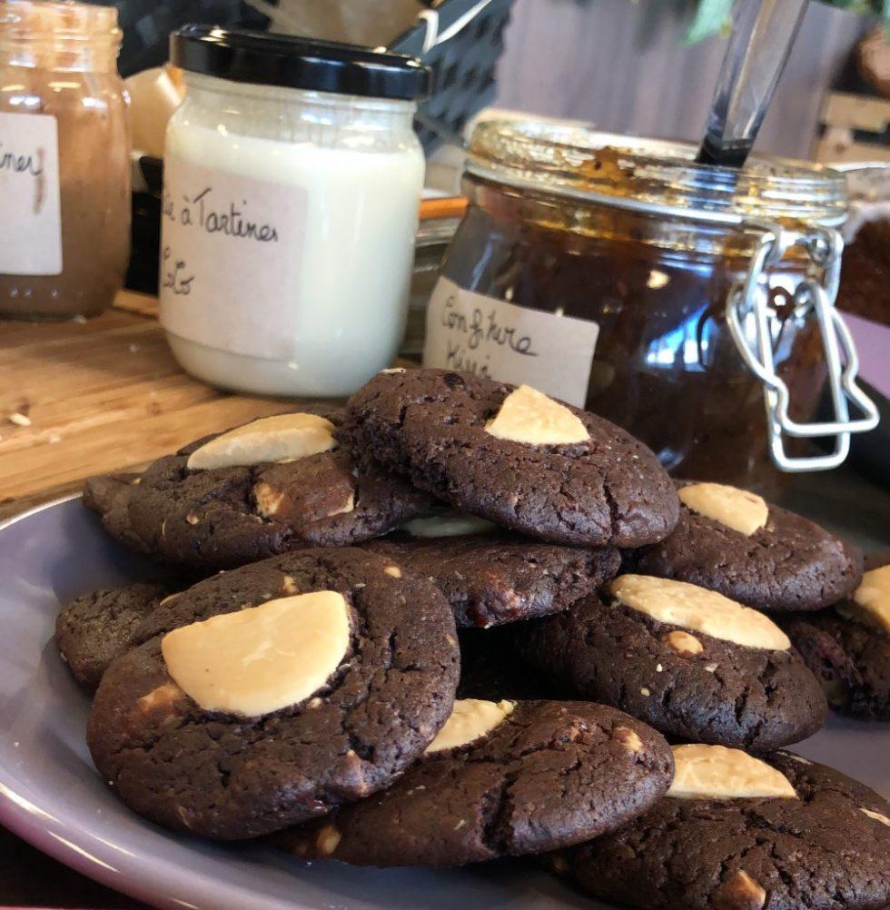Mini cookies chocolat petit dejeuner vegan entreprise