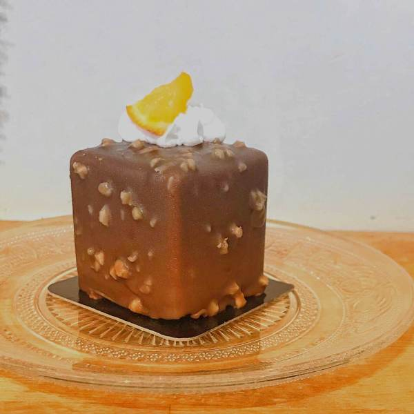 Cube Noisette clémentine vegan et sans gluten