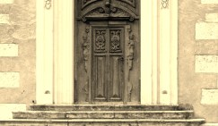 Elaborately carved doorway