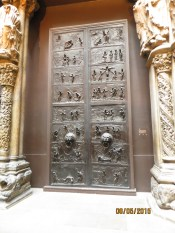 The doors from the cathedral at Santiago de Compestela