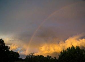 20161206DC Rainbow, Sunset, NM 2016