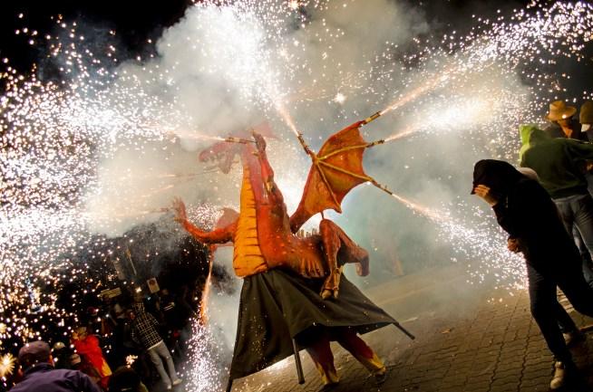 Lo Drac Carrincló dels Diables de Lleida (Lleida - XVII Gran Nit de Foc)
