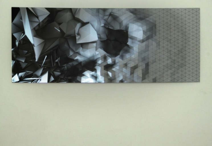 Light canvas 3 - Gallerie Muriel Guépin, NYC 2011.
