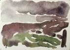 Cuillins in rain, 1987