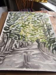 Gledhow Wood Road - painting