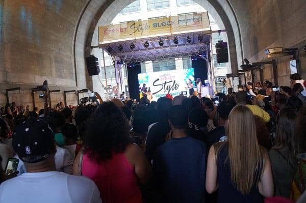 essence street style block party stage