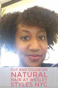 Cut and Color on Natural Hair at Wesley Styles NYC