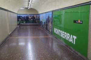 FGC to Montserrat from Barcelona via train