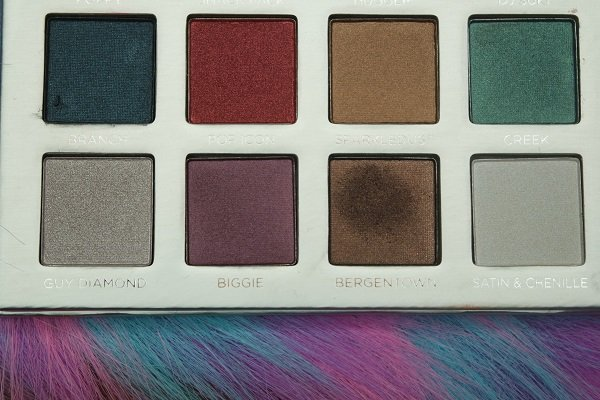 Pur Cosmetics Trolls Eye shadow palette bottom row