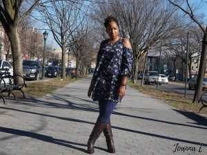Cold Shoulder Dress with leggings