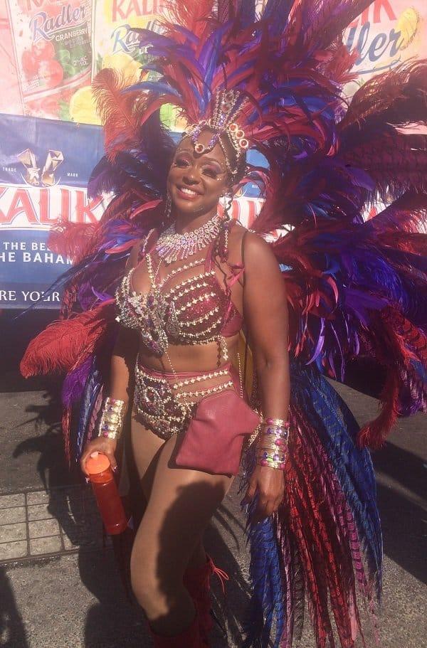Masquerader at the Road Fever Parade