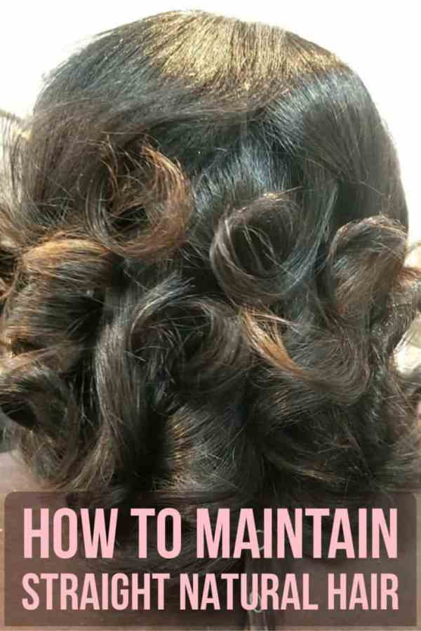 Maintaining Straight Natural Hair