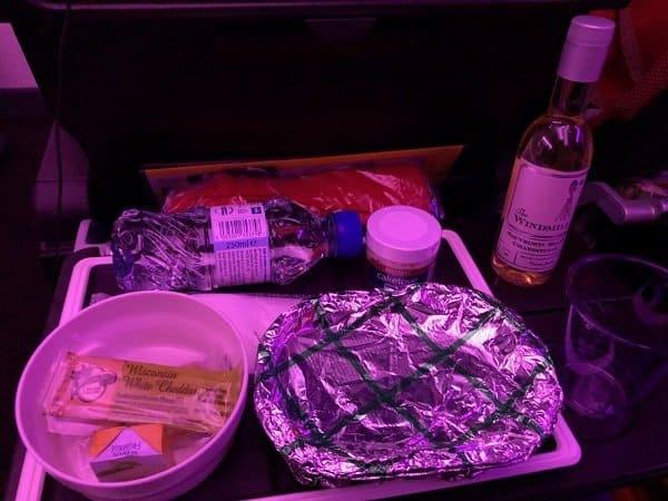Virgin Atlantic Economy Dinner