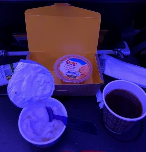 Breakfast on Virgin Atlantic Economy