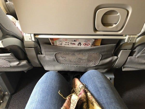 Alitalia economy class 43 h seat