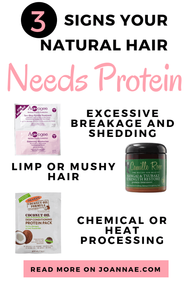 Signs your Natural hair needs a protein treatment