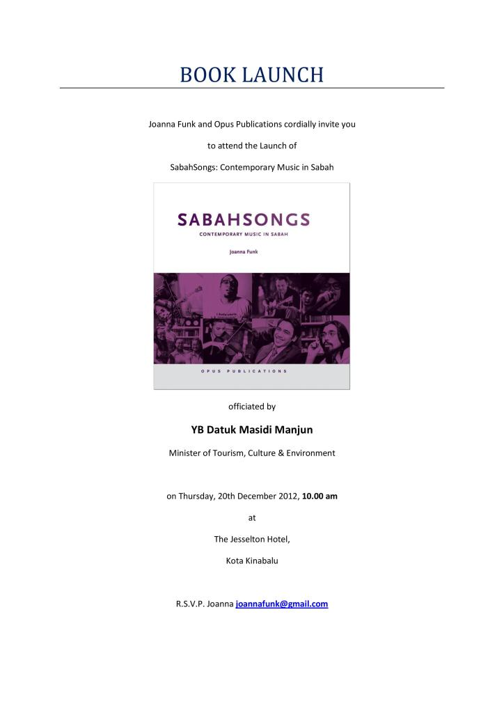 , The book launch and programme