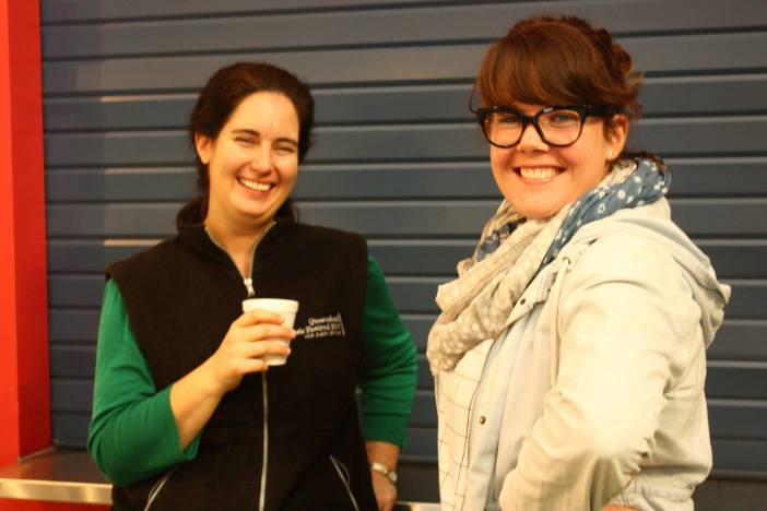 Stage manager Tanya and UTS Producer Tanya Hobbs. Photo courtesy of QMF