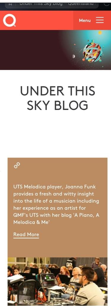UTS blog post about Joanna Funk blog