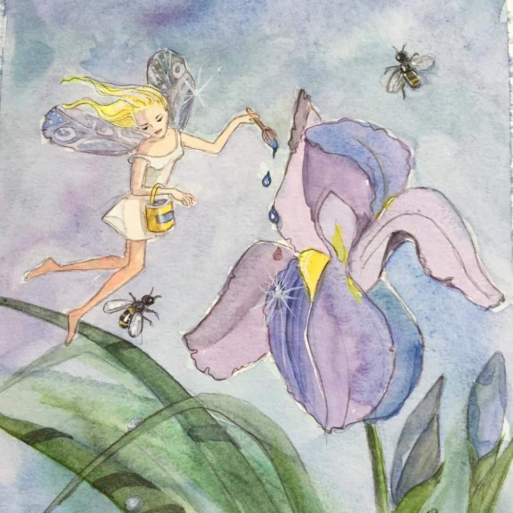 watercolour fairies children's book illustration
