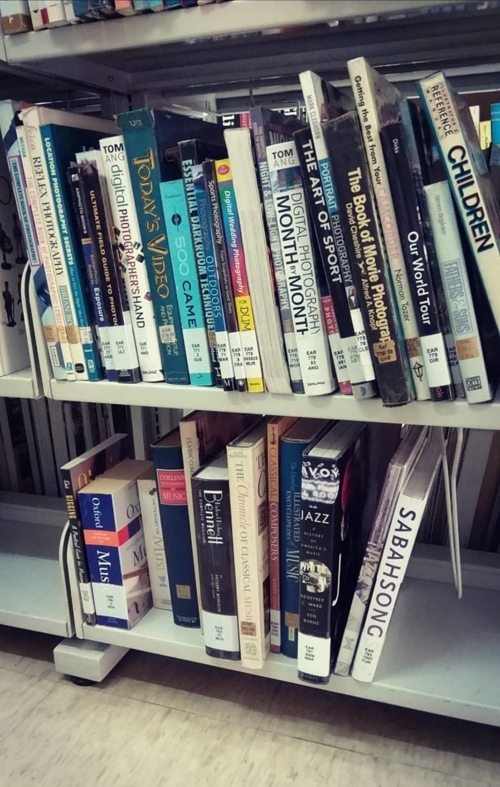 My book seen at a public library in Sabah