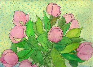 Tulipes en rose