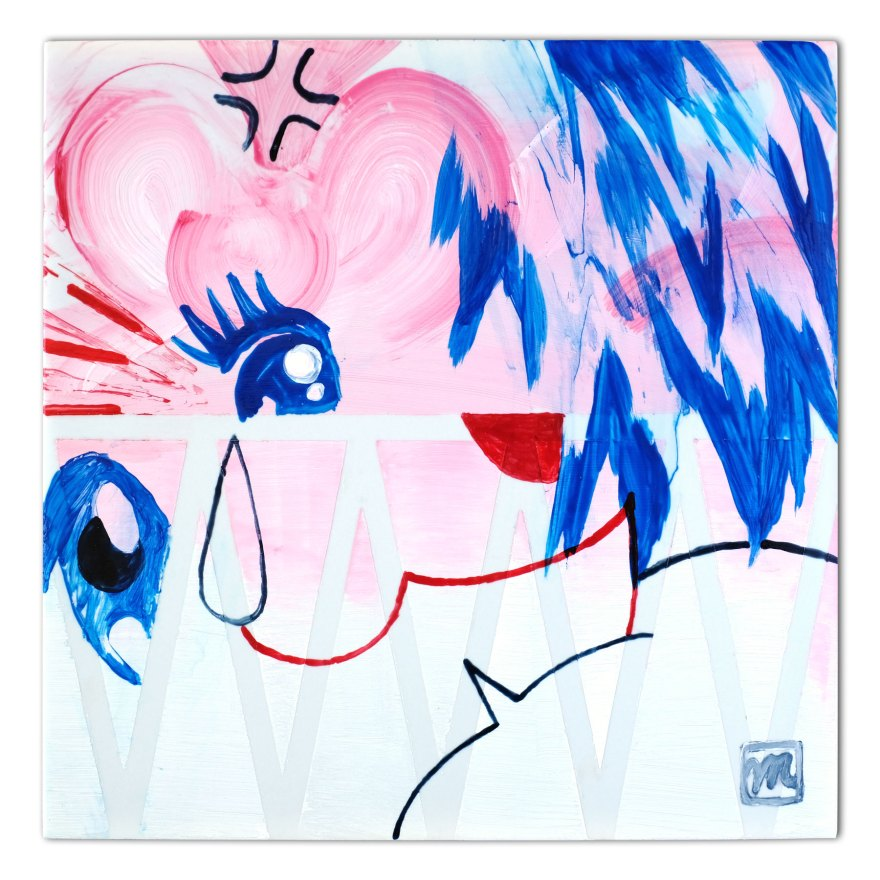 painting on ceramic tile inspired by Manga