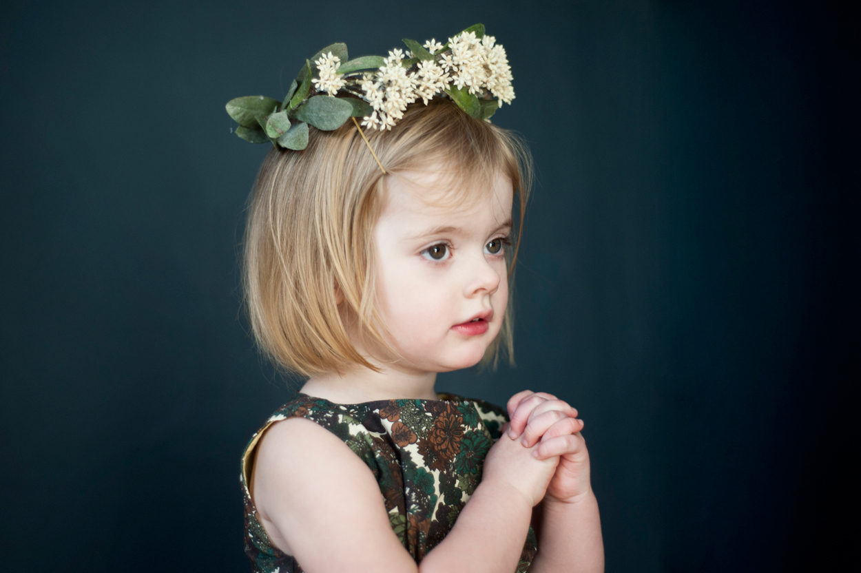 Girl with flower crown portrait of little girl with flower crown izmirmasajfo Gallery