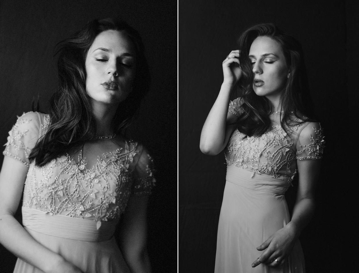 emotive black and white studio portraits