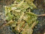 Tasty Ceasar Salad - capers, rice cake pieces and black pepper added